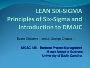 6.0 Six Sigma and DMAIC