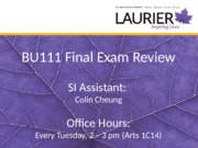 BU111 Final Exam Review