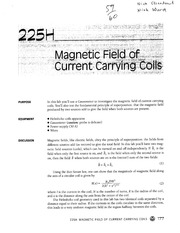 Magnetic Field of Current Carrying Coils Homework