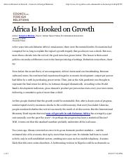 Africa is Hooked on Growth – Sebastian Mallaby (CFR).pdf