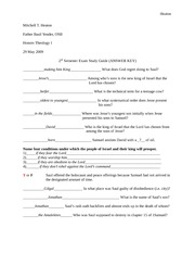 Second Semester Exam Study Guide (ANSWER KEY) (Repaired)