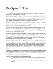 school uniforms speech essay Sample persuasive speech: school uniforms are good - duration: 1:26 nanacorea 7,777 views 1:26 how to make a persuasive speech.