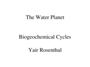 Lec16 Biogeochemical Cycles