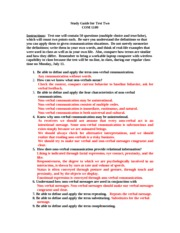 Study Guide for Test Two with explanations Summer 2011 with answers