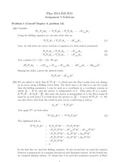 PHYS 231 Fall 2014 Assignment 5 Solutions