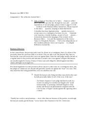 Business Law BBUS 3931- Assignment #1