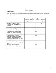 Critical Thinking - Self-Assessment and Reflection (1).docx
