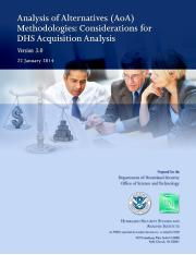 AOA Methodologies Considerations for DHS Acq Analysis