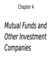 chapter.04 - students Mutual Funds and other Investment Companies.ppt