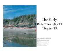 Ch13_Early Paleozoic Life