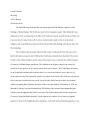 apush dbq slavery sectional attitudes docx parminder singh  4 pages slavery essay laurel