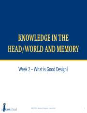 Week 2b - Knowledge in the Head&World, Memory.pptx
