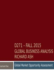 Lecture 5 - Global Market Opportunity Assessment