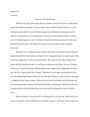 the most dangerous game bonomi sophia bonomi professor  2 pages english101essay1