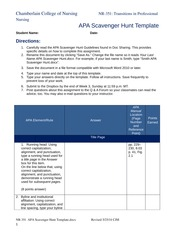 APA Scavenger Hunt Template 052514