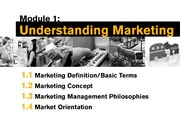 lesson 1 - marketing terminology