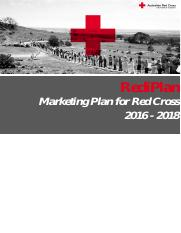 marketing plan red cross