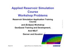 workshop-Day1 - Applied Reservoir Simulation Course Workshop