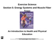 2.1 Nutrition - Energy Systems