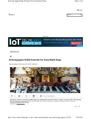 9_Grieving Japan Holds Funerals for Sony Robot Dogs