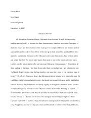 Odysseus the Hero Essay
