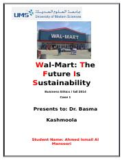 Wal-Mart The Future Is Sustainability - 3.docx