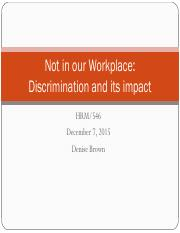 HRM 546 Not in our Workplace Final2.pdf