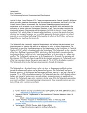 Disarmament & Development Policy Statement