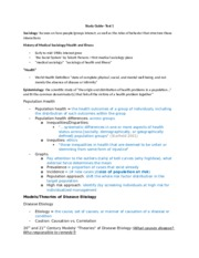 SOCI- Note compilation for Test 1
