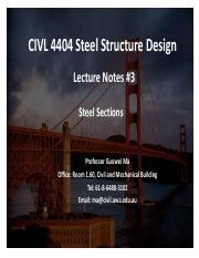 Lecture Notes #3 Steel Sections