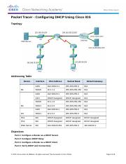 8.1.3.3 Packet Tracer - Configuring DHCPv4 Using Cisco IOS Instructions.docx