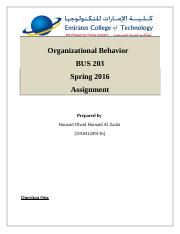 Organizational Behavior - MAN202 BUS203.docx