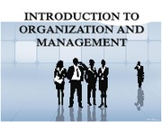 1 Introduction to Organization and Management