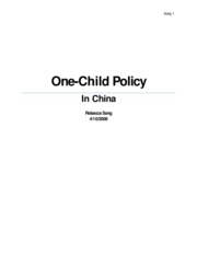 s one child policy flashcards course hero 10 pages over population essay