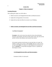 EI111_LECTURE NOTES_Lecture 1_What is Economics