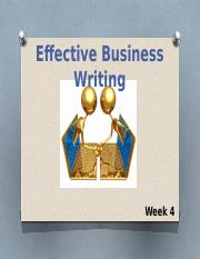 Week 4 Effective Business Writing.pptx