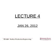 Lecture 4 - Jan 26 2012