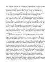 Grandmother essay