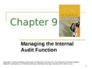 ACCT 632 Chapter 9 PowerPoint Slides