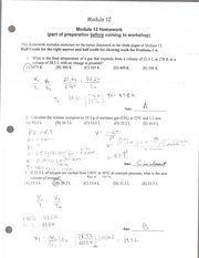 Homework on gas liquid and solid