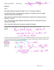 Physics1A 15F Sample Final Solutions