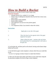 How to build A rocket - STEMS