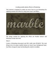 creating marble photo effects in Photoshop 2 dollr.docx