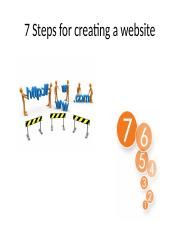 7 Steps for creating a website [Wasay]
