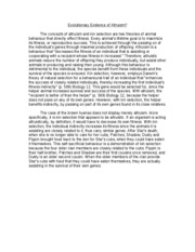 altruism essay 3 Altruism essay some schools to get an accurate picture of who you are want to know how you think about pertinent moral or ethical concepts the most common concept i came across was the concept of altruism.