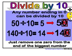 Divide by 10- Maths Strategies