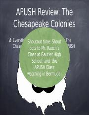 APUSH-Review-The-Chesapeake-Colonies.pptx