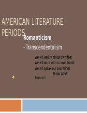 American Literature Periods-Romanticism (1).ppt