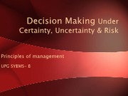 Decision Making Under Certainty, Uncertainty & Risk - ASBM.pdf