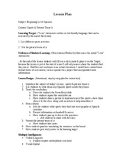 I Can Statement Lesson Plan